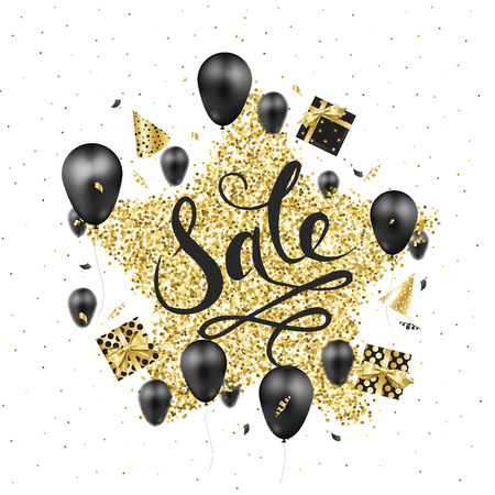 Big sale banner template design. Stock Illustratie