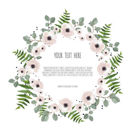 Stylish floral vector design round frame. Vector illustration. Illustration