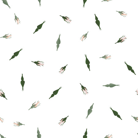Floral seamless pattern. Plant texture for fabric, wrapping, wallpaper and paper. Decorative print. Stock Illustratie
