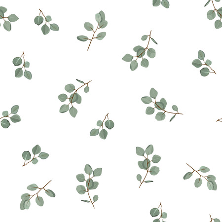 Floral seamless pattern. Plant texture for fabric, wrapping, wallpaper and paper. Decorative print. Ilustração