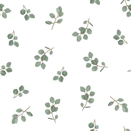 Patrón floral sin fisuras. Textura vegetal para tela, envoltura, papel tapiz y papel. Estampado decorativo.