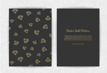 invitation card with diamonds . Vector illustration. Ilustração