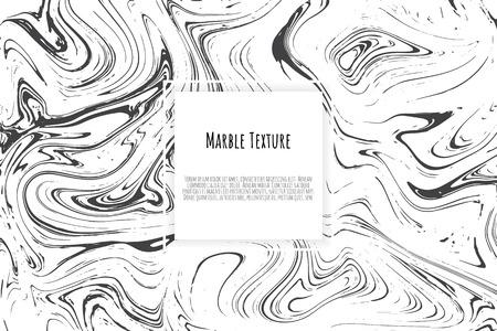 Plantilla de mármol gris, negro, blanco. Patrón de moda, cartel gráfico, folleto geométrico, tarjetas. Ilustración de vector