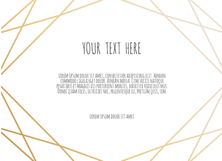 Polygonal frame, Frame border with copy space. Modern abstract vector backgrounds in art deco style.