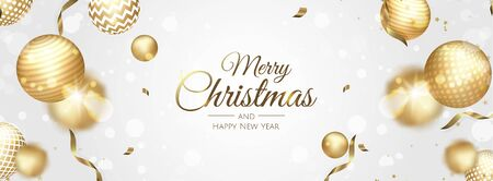 Christmas vector background. Xmas sale, holiday web banner.