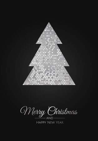 Merry Christmas background with christmas element. Vector illustration.  イラスト・ベクター素材