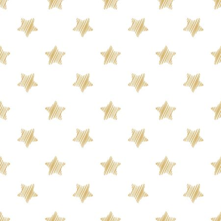 Festive seamless background with gold stars. Holiday background