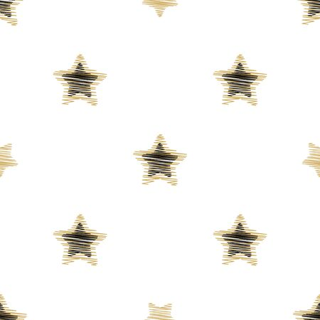Holiday background, seamless pattern with stars. Vector illustration. Illustration
