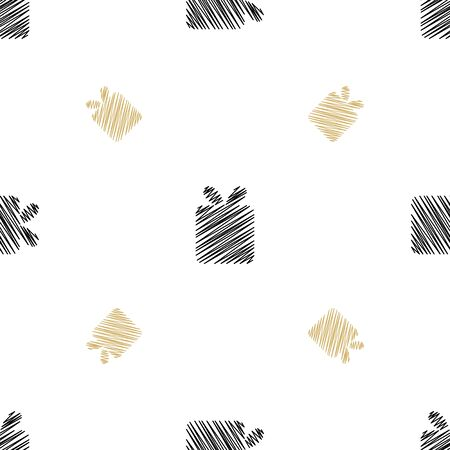 Holiday background, seamless pattern with present. Vector illustration.  イラスト・ベクター素材