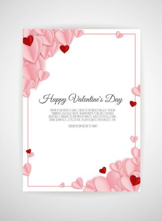 Valentine s day background with hearts. Valentine s day background with hearts