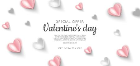 Valentines day sale background with Heart shape. Can be used for Wallpaper, flyers, invitation, posters, brochure, banners