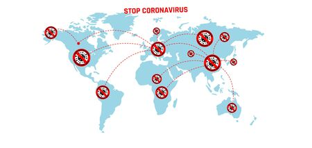 Coronavirus 2019-nC0V Outbreak, Travel Alert concept. The virus attacks the respiratory tract, pandemic medical health risk.