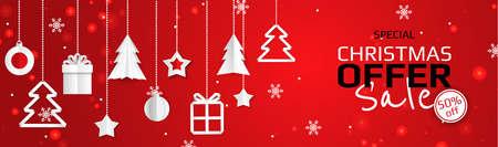 Christmas Sale Season Design Template. Christmas banner.