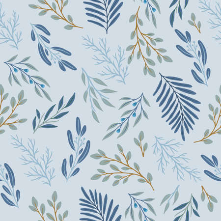 Abstract floral seamless pattern. Vector design for paper, cover, fabric, interior decor. Vetores