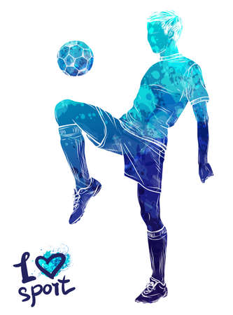 Graphic figure of the athlete