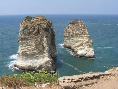 Pigeon rocks in Lebanon,Beirut