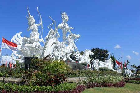 Statue in Kuta town, Bali