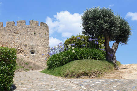 Medieval castle in Torres Vedras, Portugal Editorial