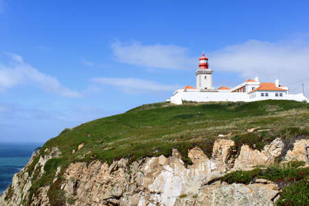 Lighthouse at Cabo da Roca, the most westerly point of the European mainland, Portugal