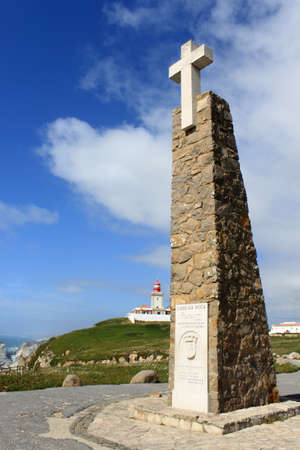 Cabo da Roca, the most westerly point of the European mainland, Portugal Stock Photo
