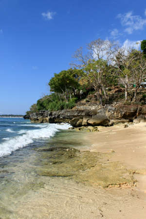 Tropical beach in Bali Stock Photo