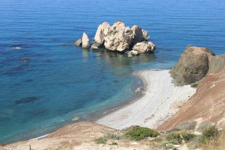 Petra to Romiou, Aphrodite s Birthplace in Cyprus Stock Photo