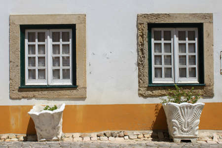 Two windows in Tomar, Portugal photo