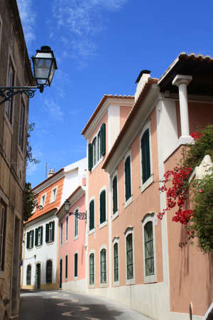 Narrow street in Cascais, Portugal