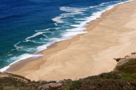 Atlantic coast at Nazare, Portugal