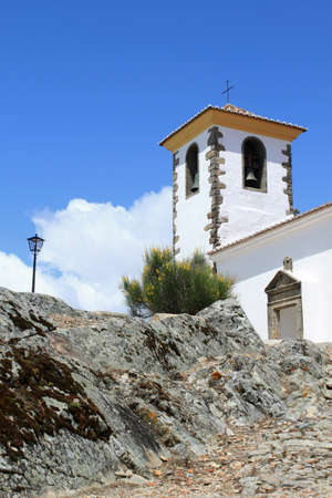 Catholic church in Marvao, Portugal Stock Photo