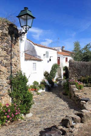 Narrow street in Castelo de Vide, Portugal