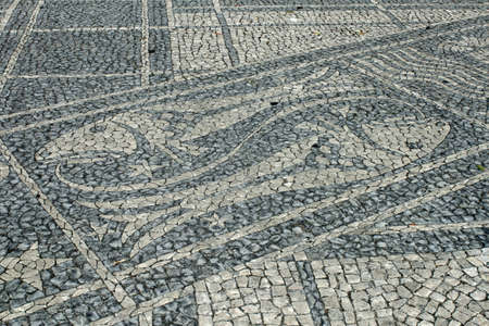 Zodiac sign from mosaics in Lisbon, Portugal photo