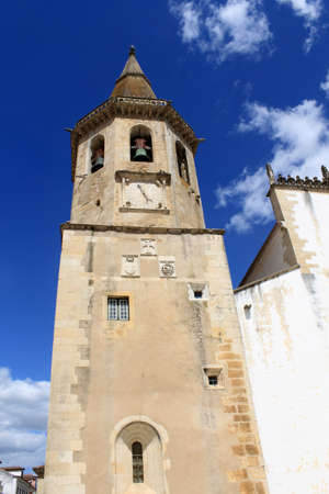 Clock tower of Sao Joao Baptista in Tomar, Portugal photo