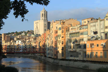 View of Girona, Spain Stock Photo