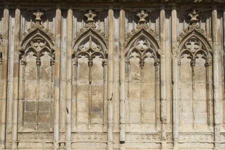 Detail of Gothic church in Girona, Spain Stock Photo