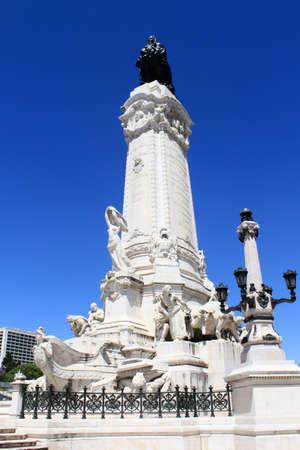 Marques de Pombal statue in Lisbon, Portugal