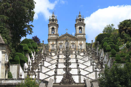 Bom Jesus do Monte in Portugal Stock Photo