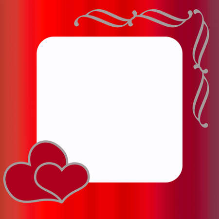 Valentine frame in red color