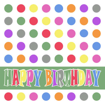 Birthday card with colorful dots