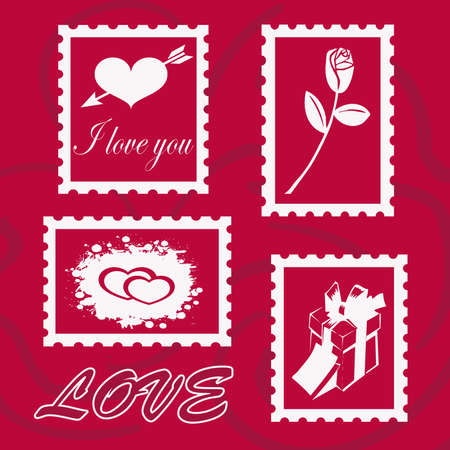 Card for Valentine s Day with stamps