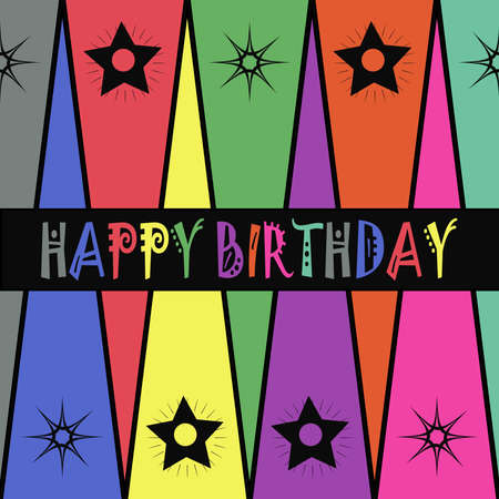 Colorful birthday card Stock Photo