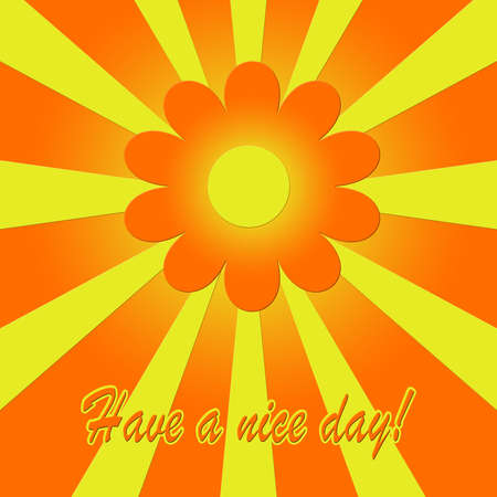 Have a nice day  illustration with flower shape