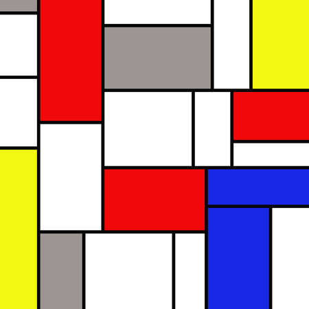 mondrian: Colorful rectangles in mondrian style