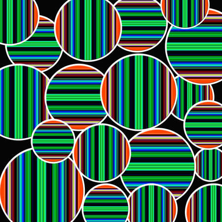 Retro style wallpaper with round shapes