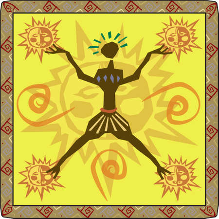 Vector illustration of African primitive design Vector