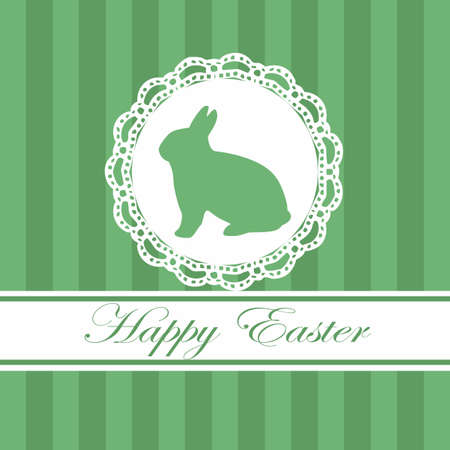 Easter card in green and white Stock Photo