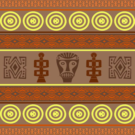 Wallpaper with African design elements Stock Photo