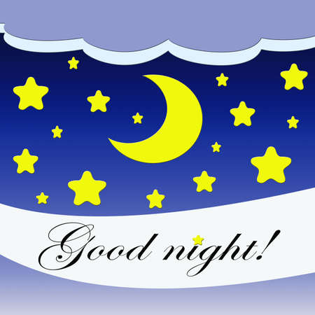 Good night illustration Stock Illustration - 18226938