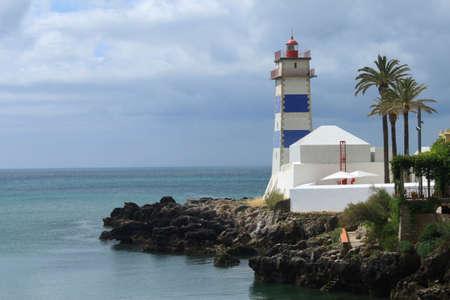 marta: Santa Marta lighthouse in Cascais, Portugal