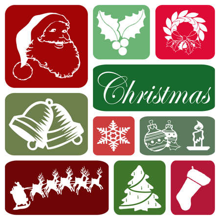 Wallpaper with Christmas symbols